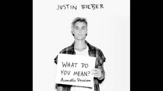 Justin Bieber - What do you mean   Acoustic Version