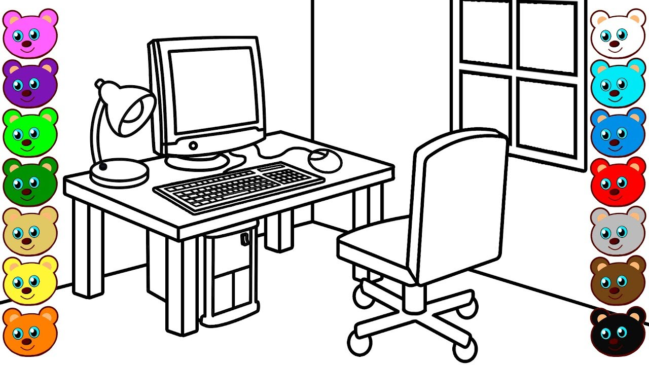 Coloring Page For Kids - YouTube