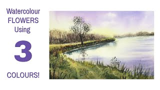 Watercolour Tutorial Using Just 3 Colours With Top Tips On Fun Techniques
