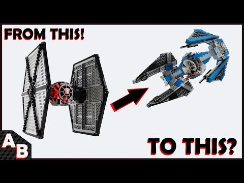 CAN YOU MAKE A First Order Tie Fighter Into A Tie Interceptor?? (No Extra Pieces) Convert LEGO 75101