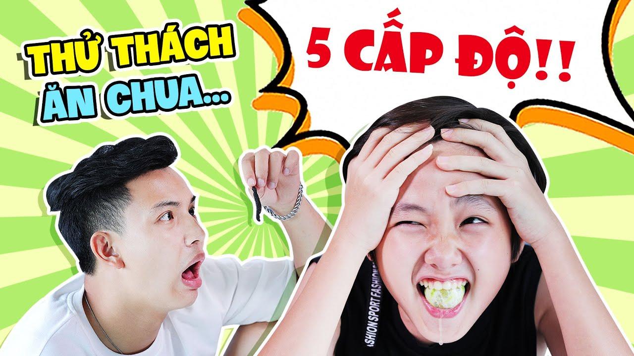 Thử Thách Ăn Chua 5 Cấp Độ Rớt Hết Cả Nước Miếng Cùng Tom | Việt Hoàng Official