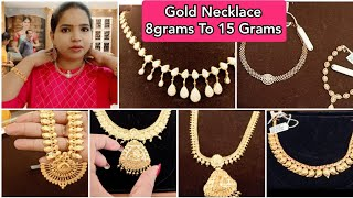 Gold Necklace 8 Grams To 15 Grams New Light weight Collections 2021 | No GST New 2 in 1 Necklace