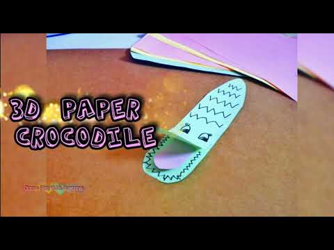 3D Paper Crocodile, Easy origami animals, Come Play With Rosanne