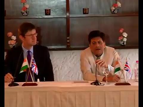 Speaking at India-UK Energy for Growth Partnership ,2017 , New Delhi