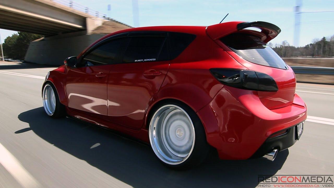 Need For Speed Girl Wallpaper Girl S Ride Red Monster Bagged Mazdaspeed3 Youtube
