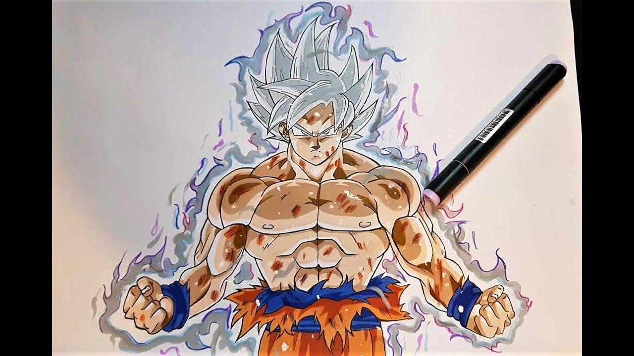 Drawing goku mastered ultra instinct youtube - Goku ultra instinct sketch ...