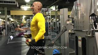 Real Scooby gym push workout