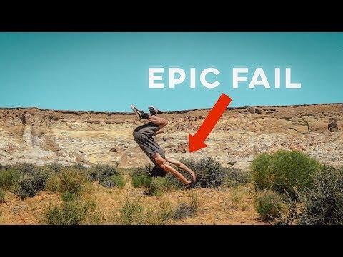BACK FLIP EPIC FAIL!!