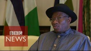 Boko Haram 'getting weaker' says Nigeria President Goodluck Jonathan - BBC News