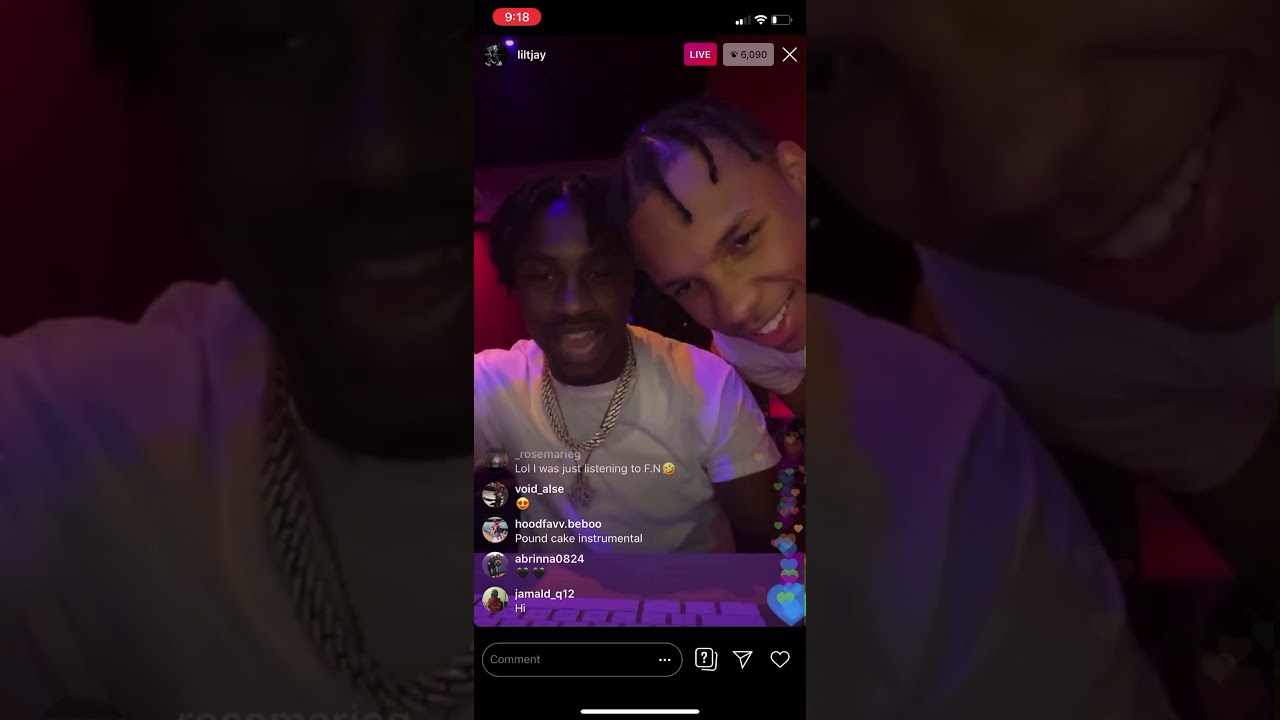 Lil Tjay Freestyles Live On Ig Youtube