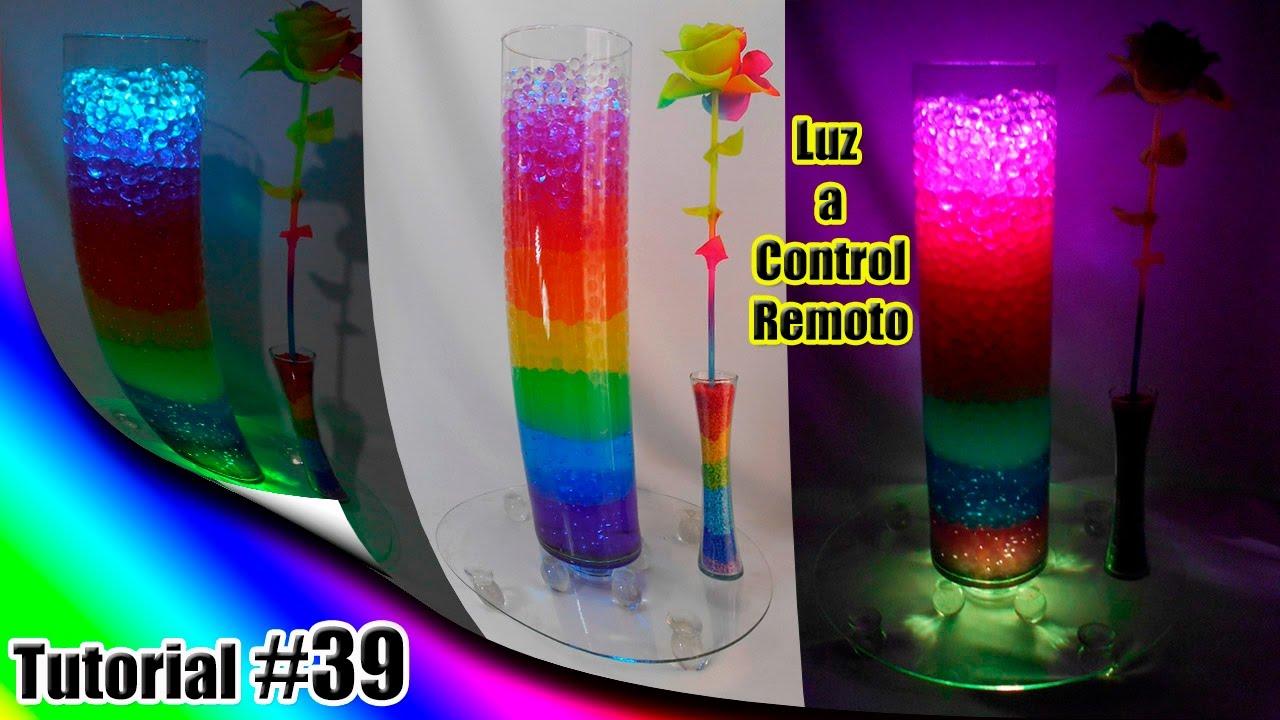 29a876783 Arreglo Arcoiris Sensacional Luminoso con Hidrogel y Luz Multicolor a  control remoto Tutorial #39