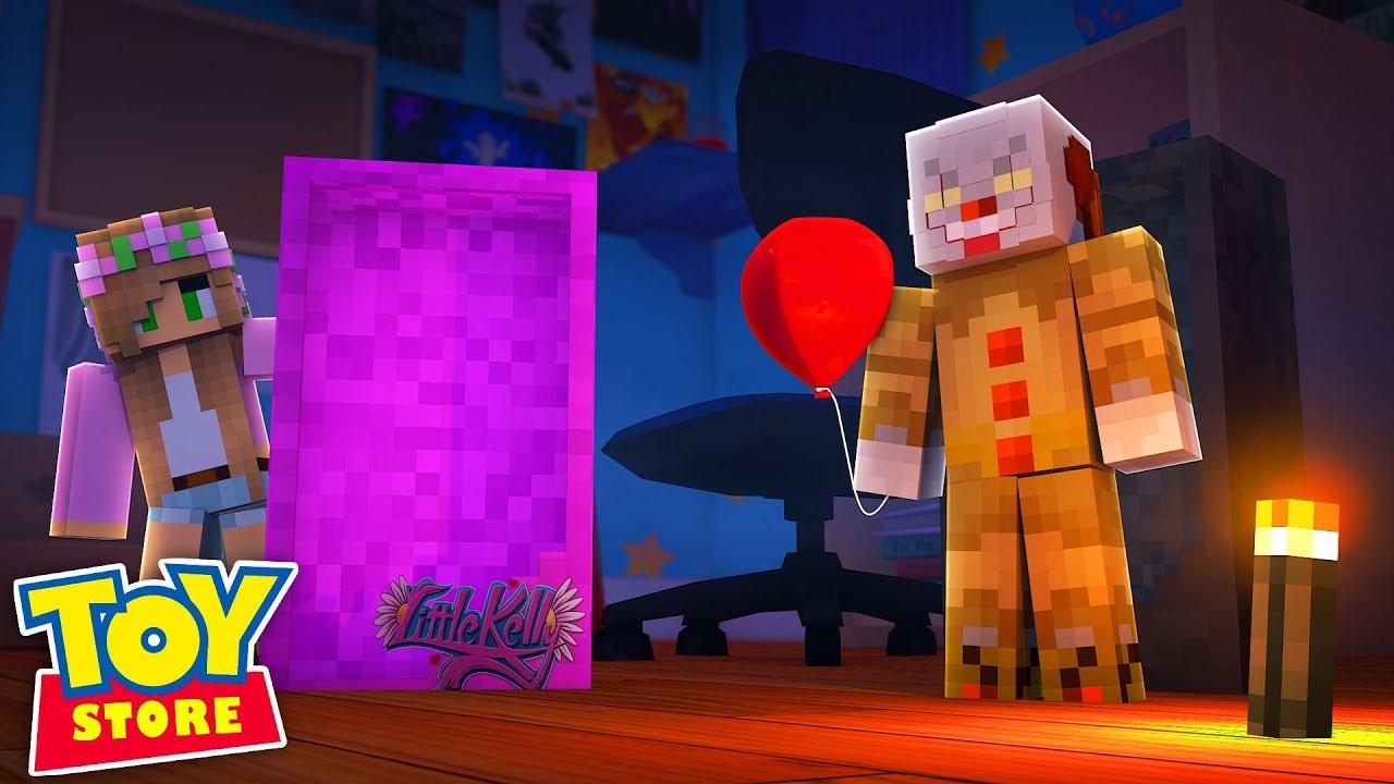 KILLER CLOWN IN THE TOYSTORE! Minecraft IT | Little Kelly