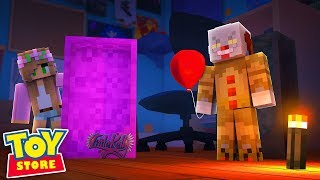 KILLER CLOWN IN THE TOYSTORE! Minecraft IT | Little Kelly thumbnail