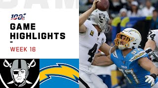 Raiders vs. Chargers Week 16 Highlights | NFL 2019