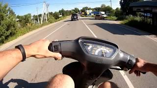 Покатушка на cтоковой Honda Dio AF-18 #1