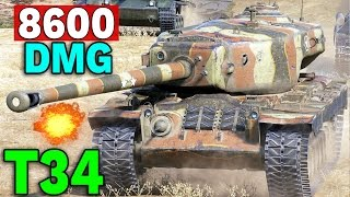 230 000 kredytów na T34 !!! - 8600 DMG - World of Tanks