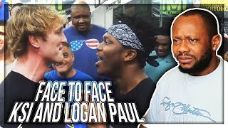 KSI - FACE TO FACE WITH LOGAN PAUL REACTION