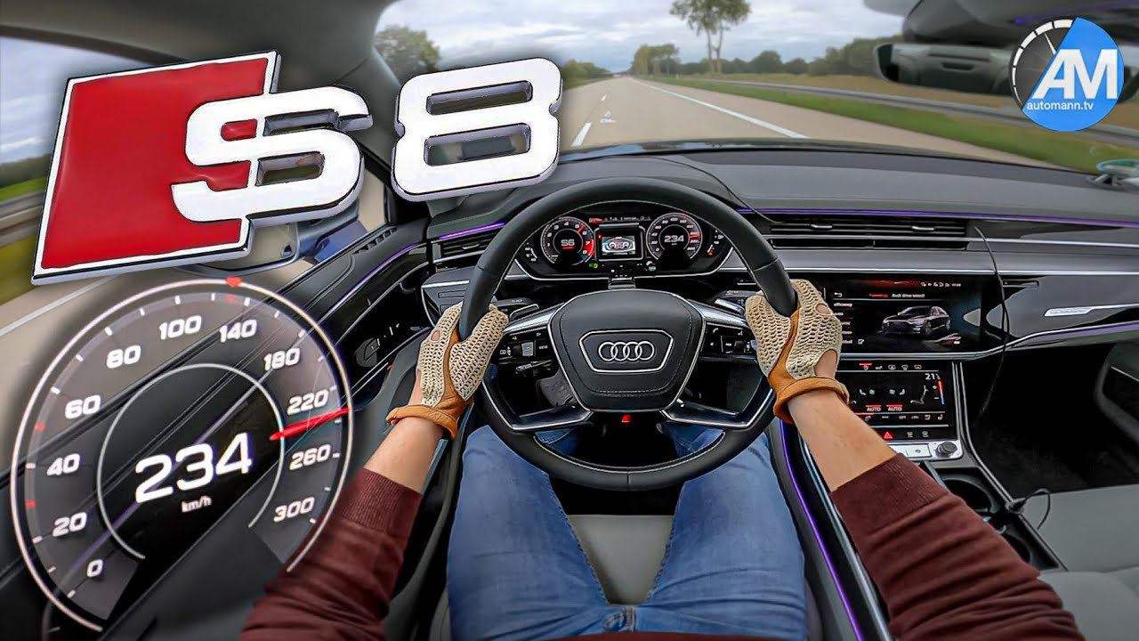 NEW! Audi S8   Launch Control & 100-200 km/h acceleration🏁   by Automann
