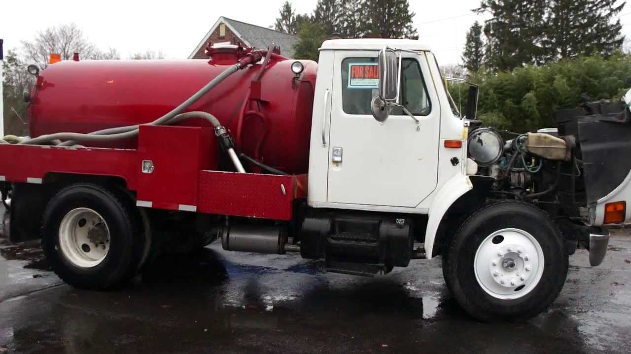 Sold 2001 international 4900 septic truck for sale auto Septic motor