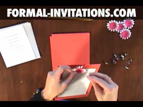 How to make diy wedding invitations with embossed flowers and ...