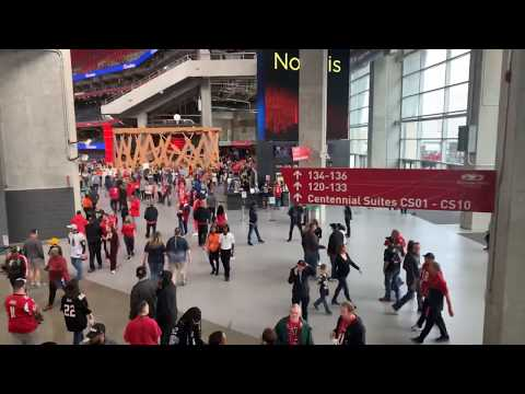 Inside Mercedes Benz Stadium For LA Rams vs Atlanta Falcons NFL Game Vlog 1