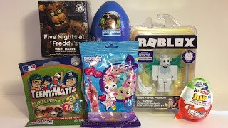 Roblox FNAF Teeny Mates Baseball Playmobil Fingerlings Surprise Toys Opening