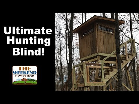 Ultimate Box Blind Tour - Deer Hunting Box Blind - Wisconsin Hunting Blind