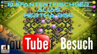 [DEUTSCH] Clash of Clans Coc Youtuber Besuch ^^ElefantenfischGER^^