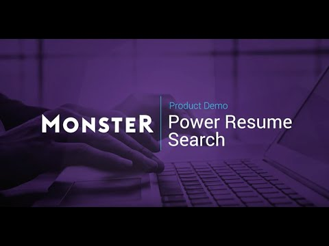 Monster Power Resume Search Guided Tour - YouTube