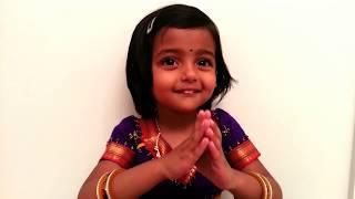 Ganpati atharvashirshya by 3 year old Aarya