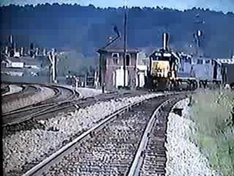 CSX Coal Trains at Barboursville, West Virginia 7/20/1992