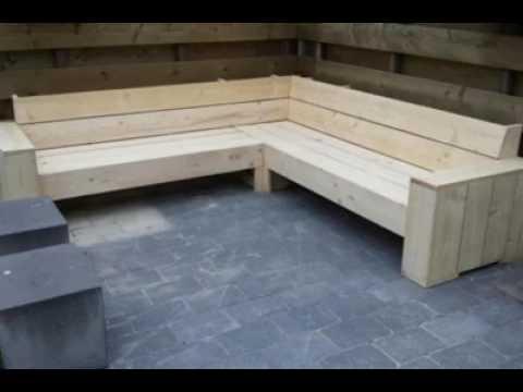 Bouwtekening hoekbanken steigerhout nodig klik hier youtube