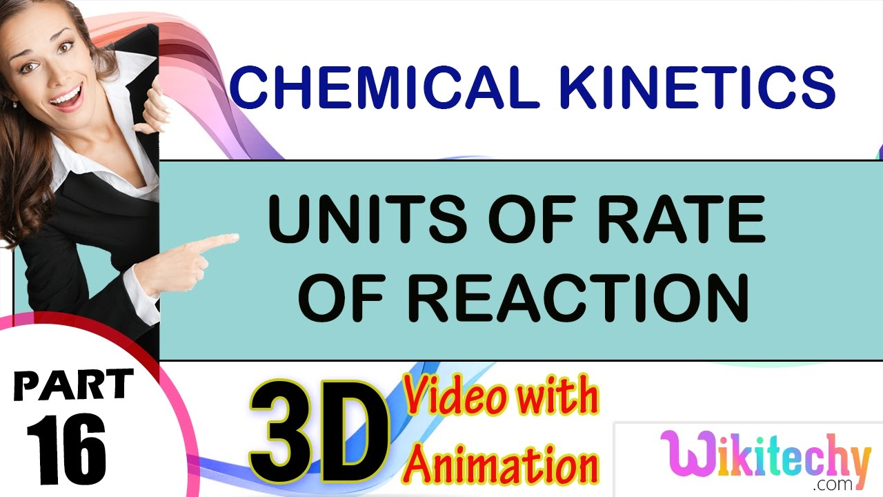 units of rate of reaction chemical kinetics 2 class 12