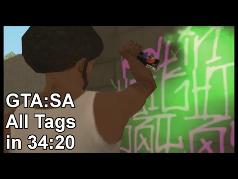 GTA:SA All Tags in 34:20