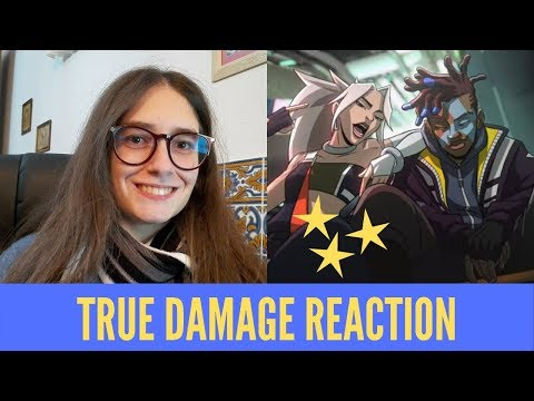 TRUE DAMAGE REACTION   Music Video, Pics, Finals Opening   Melody Reacts [LoL][ [S9]