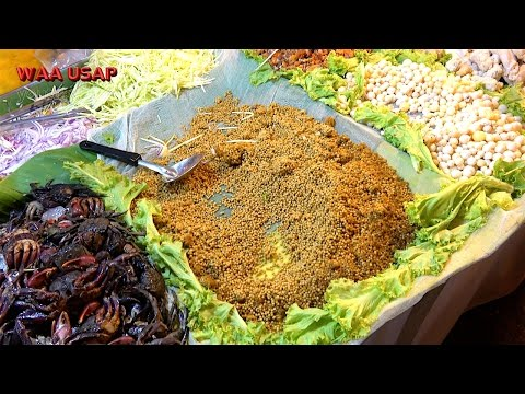 Spicy Horseshoe Crab Egg Shellfish Seafood Salad | Street Food