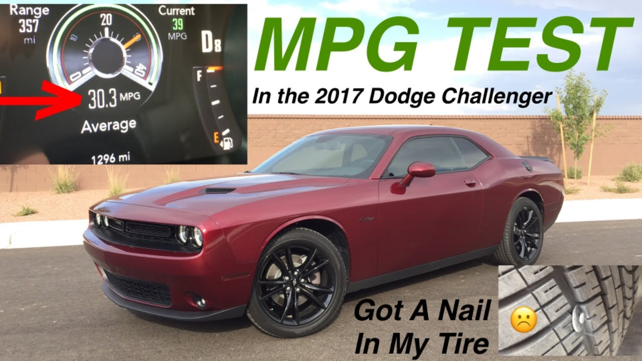 70 Mile MPG Test on the 2017 Dodge Challenger SXT Plus  YouTube