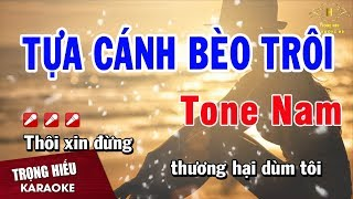 Karaoke Tựa Cánh Bèo Trôi Tone Nam Nhạc Sống | Trọng Hiếu