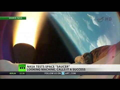 """NASA's """"flying saucer"""" crashes into ocean"""