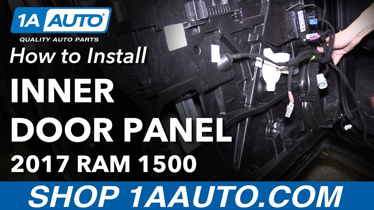 How To Remove Front Inner Door Panel 09 18 Ram 1500 Youtube
