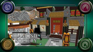 Diamond Society SMP S3E17 - Palace Wall // Oriental Nether Tunnel