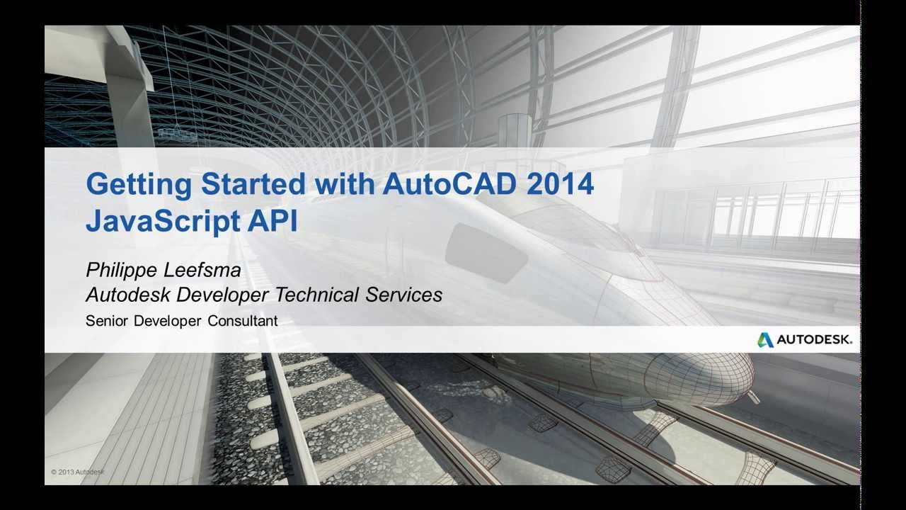Getting Started with the AutoCAD 2014 JavaScript API