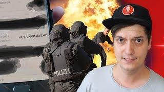 Über 8 MILLIARDEN Euro vom Konto abgebucht & Polizei nimmt Berliner-YouTuber Schusswaffe ab...