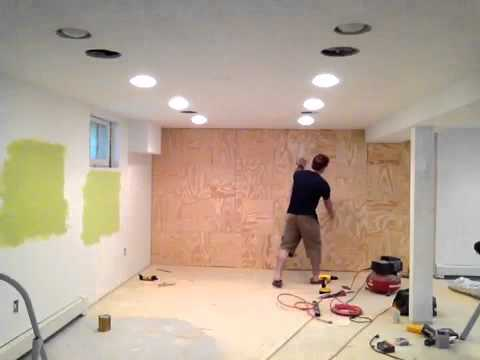 Plywood Accent Wall Youtube