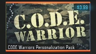 NEW Code Warrior Personalization Pack BUY AND SUPPORT VETERANS! Black Ops 3