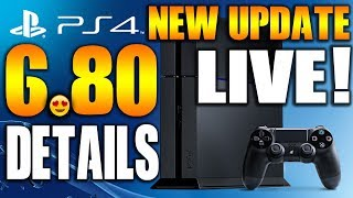 "New PS4 6.80 Update System Software Details! ""6.80 Firmware"""