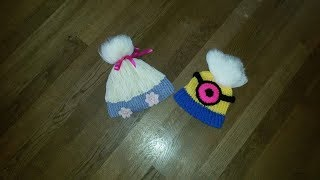 trollen muts / Poppy troll hat deel 2 (3 delen) breiring loom knitting
