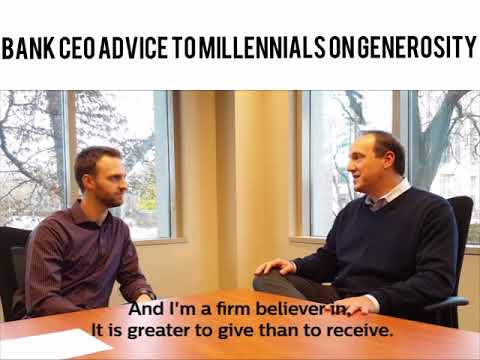 Tradition Capital Bank CEO Advice to Millennials on Generosity