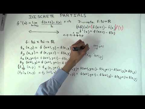 Discrete partial derivatives