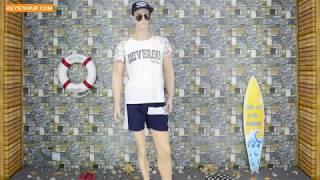 Plus size board swim shorts custom made private brand logo BST0268
